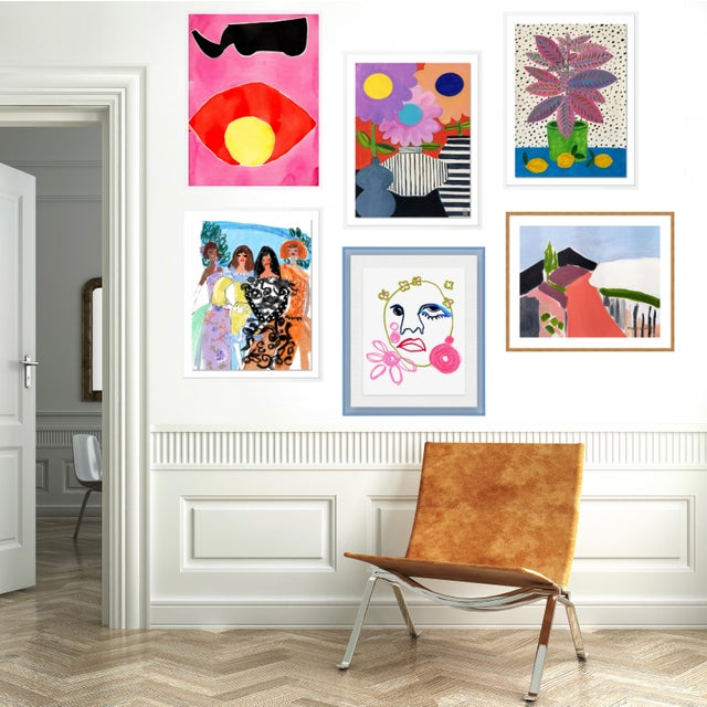 Contemporary Bleecker Gallery Wall, Set of 6 For Sale - Image 3 of 11