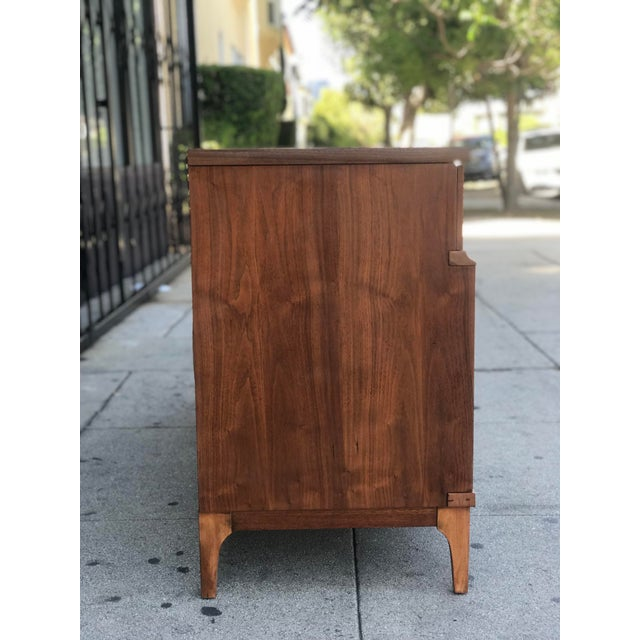 Mid-Century Modern Mid Century Credenza With Metal Pulls For Sale - Image 3 of 11