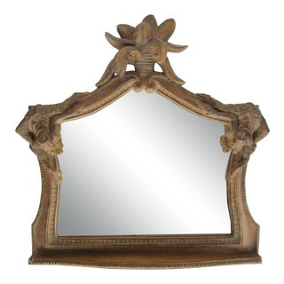 Chinoiserie Mirror With Palm Tree and Monkeys For Sale