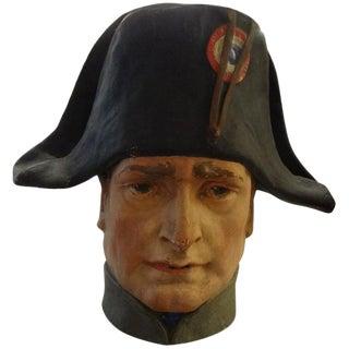 French Papier Mâché Bust of Napoleon Bonaparte For Sale