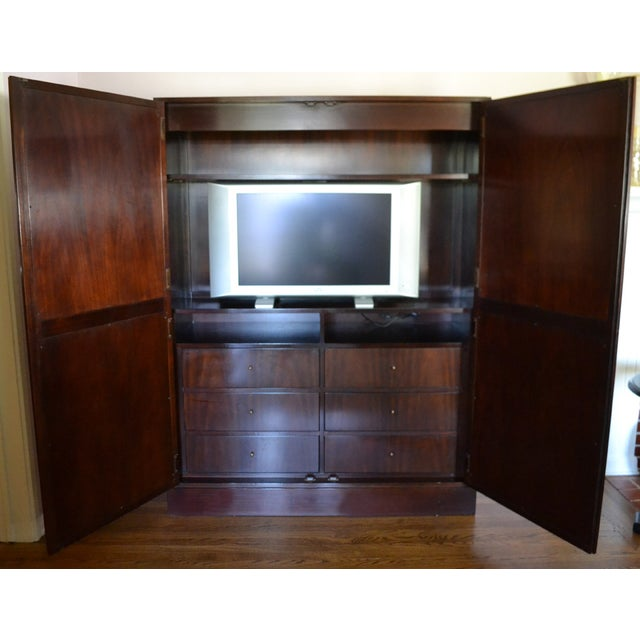 Modern Thomas Pheasant Baker Furniture Armoire For Sale - Image 3 of 4