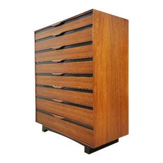 John Kapel for Glenn of California Mid Century Walnut Dresser For Sale
