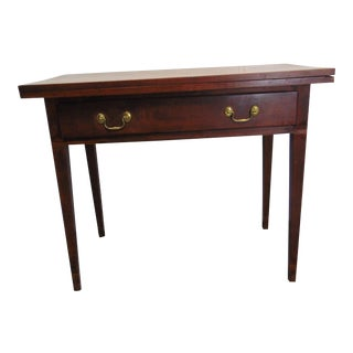 19th C Hepplewhite Walnut Game Table For Sale