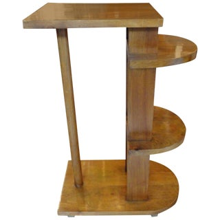 1930s French Geometric Table Side Table For Sale