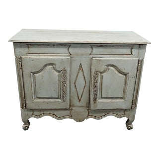 19th C. Antique Distressed Paint Decorated Cabinet For Sale
