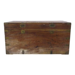 Late 19th-Early 20th Century Camphor Wood Trunk For Sale