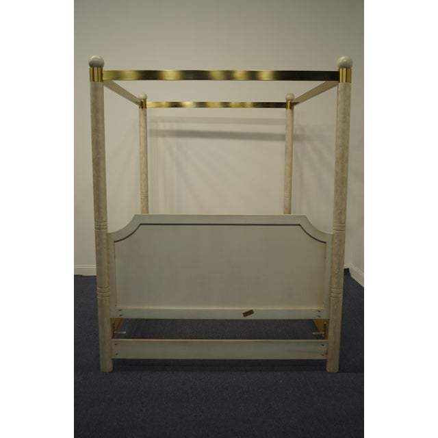 Henredon Furniture Charisma Collection Queen Size Four Poster Canopy Bed For Sale In Kansas City - Image 6 of 9