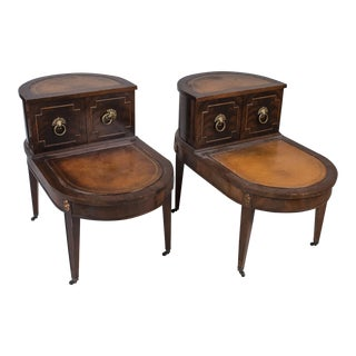 Georgian Style Fruitwood End Tables - A Pair For Sale