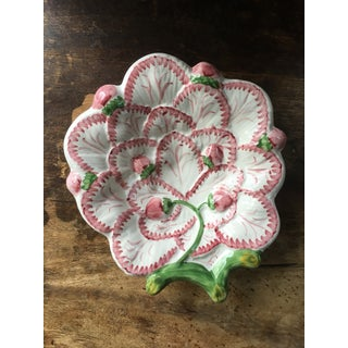 20th Century Cottage Neuwirth Portuguese Strawberry Hand-Painted Majolica Dish Preview