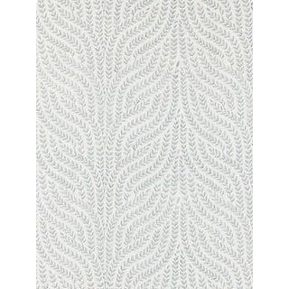 Sample, Scalamandre Willow Vine Embroidery, Aquamarine Fabric For Sale