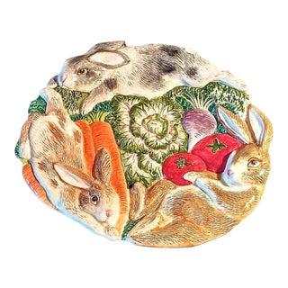 Fitz & Floyd Garden Bunnies Easter Plate