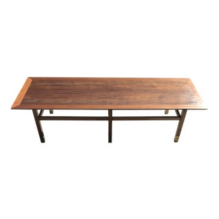 Mid Century Harvey Probber Coffee Table With Turquoise Inlay For Sale