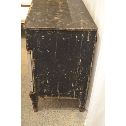 Spanish Revival Antique Chest With New Paint (Black and White) From Spain For Sale - Image 3 of 13