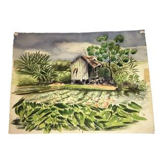 Hawaiian Plantation Watercolor