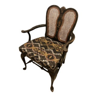 19th Century Queen Anne Chinoiserie Accent Chair For Sale