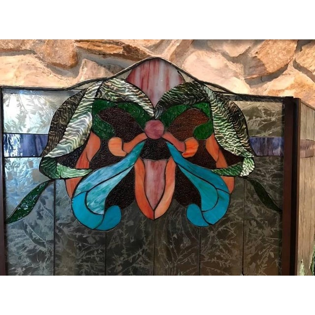 Stained Glass Fire Screen For Sale - Image 4 of 9