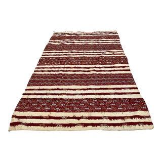 Moroccan Vintage Tribal Kilim Handira Rug, circa 1960 For Sale