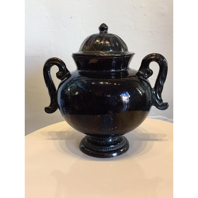 Mexican Ceramic Handled Urn - Image 2 of 4