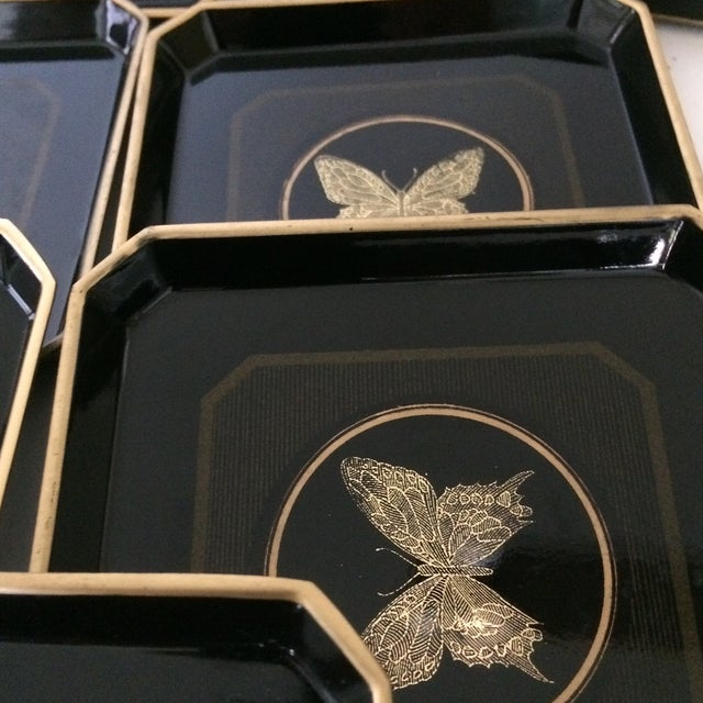 Papillon Otagiri Butterfly Coasters - Set of 6 For Sale - Image 10 of 11