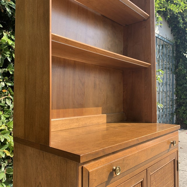 Copper Mid Century Modern Display Shelf Cabinet For Sale - Image 8 of 10