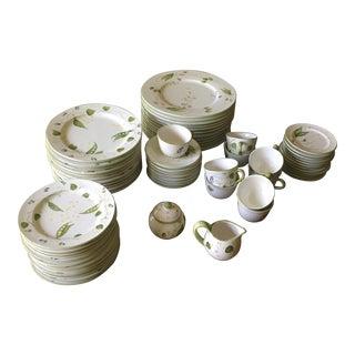 1990s Vintage Chelsea House Italian Porcelain China Set- 67 Pieces For Sale
