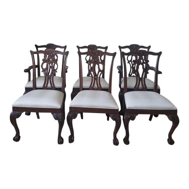 Ethan Allen Chauncey Dining Chairs - Set of 6 - Image 1 of 11