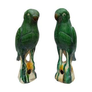 Majolica Roof Final Parrot - Pair