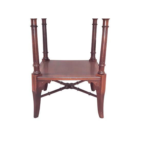 Rosewood English Inlaid Rosewood Table A For Sale - Image 7 of 9