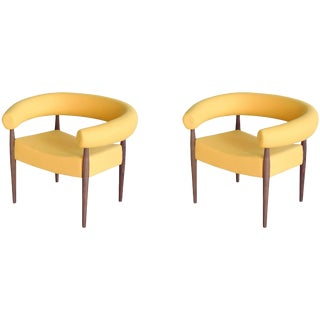 Nanna Ditzel Pair of Ring Chairs for Getama For Sale