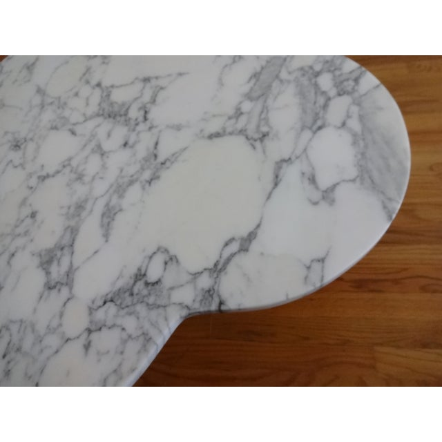 Mid-Century Modern Marble Clover Coffee Table - Image 4 of 8