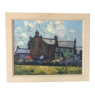 Late 20th Century Cornwall Landscape Oil Painting by Bob Vigg, Framed For Sale