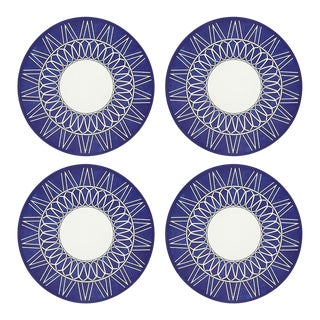 """Constellations Weave, 16"""" Round Pebble Placemats, Set of 4 For Sale"""