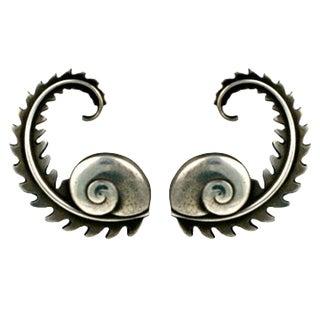 Georg Jensen Fern Earrings For Sale