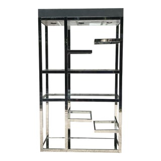 Chrome Etagere Inspired by Milo Baughman