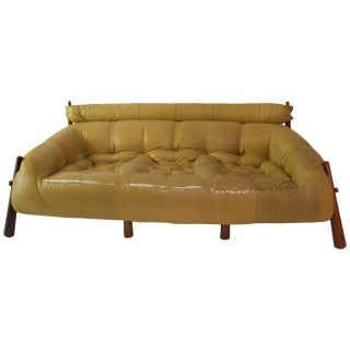 1958 Percival Lafer Wood and Leather Base Sofa