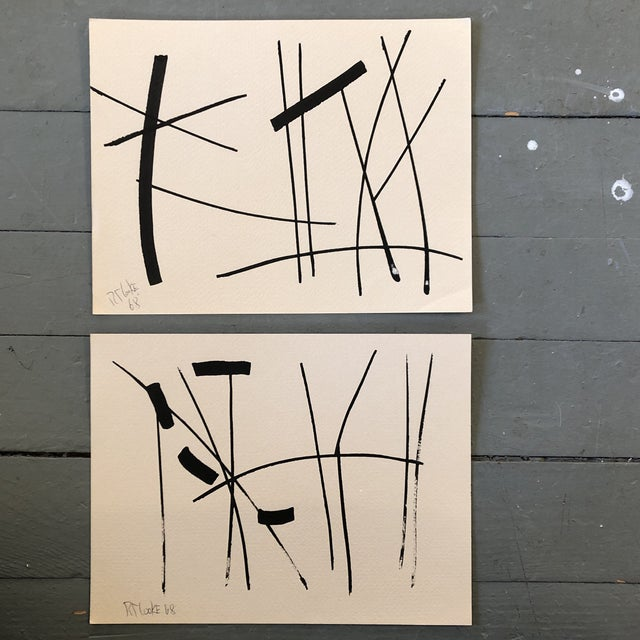 Gallery Wall Collection 2 Original Vintage 1960's Robert Cooke Abstract Paintings For Sale In Philadelphia - Image 6 of 6