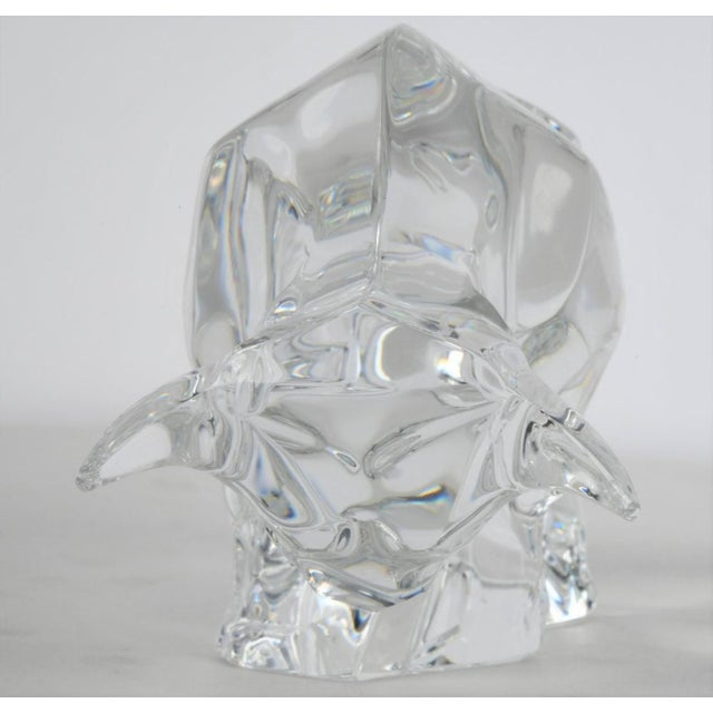 Art Deco Art Deco Style Signed Baccarat Crystal Bull Figurine For Sale - Image 3 of 6