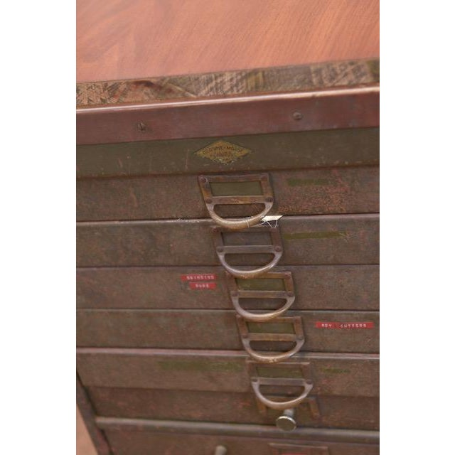 1940s Industrial Browne-Morse Filing Cabinet For Sale - Image 4 of 10