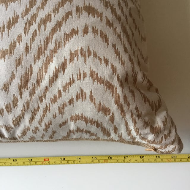 Neutral Tiger Stripe Pillow For Sale - Image 9 of 10