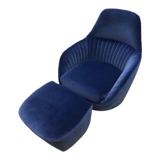 Ligne Roset Amedee Chair and Ottoman For Sale