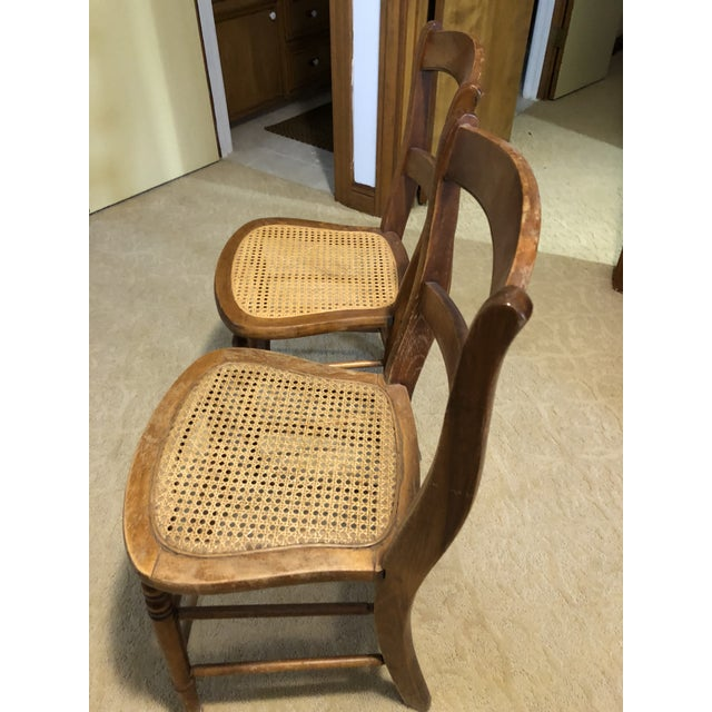 """Americana Kuchin Caned Side Chairs """"Little Cow"""" - A Pair For Sale - Image 3 of 6"""