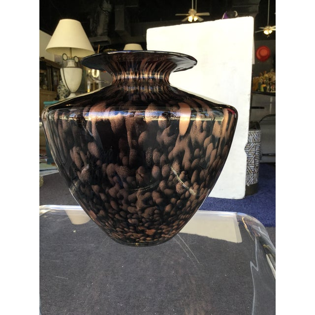 Italian Modern Glass and Copper Dust Vase For Sale - Image 4 of 6