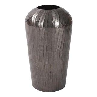 Carbon Gray Aluminum Vase For Sale