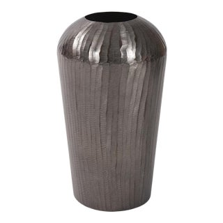 Carbon Gray Aluminum Vase from Kenneth Ludwig Chicago For Sale