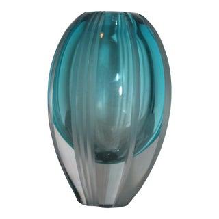 Waterford Aqua Haze Vase For Sale