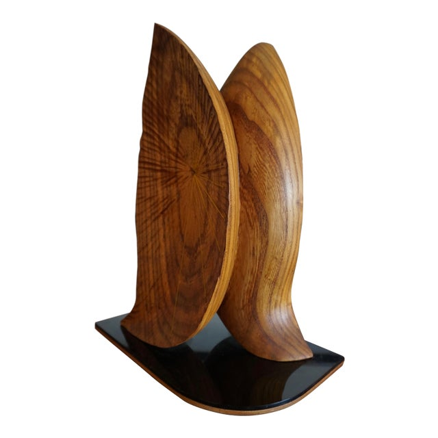 "Organic Abstract Oak Wood Sculpture Signed ""Paltridge"" 77 For Sale"