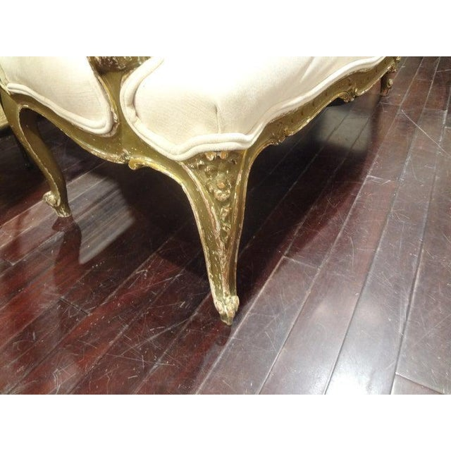Late 19th Century Italian Louis XV Style Giltwood Loveseat For Sale In Houston - Image 6 of 11