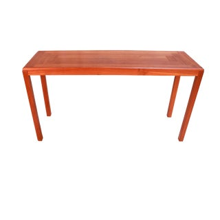 Vejle Stole Møbelfabrik Danish Modern Teak Console Sofa Table For Sale