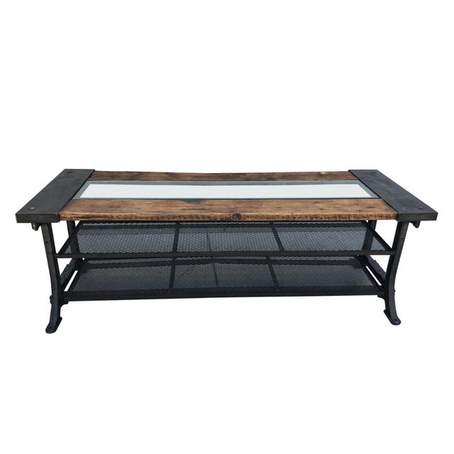 Black Custom Allsaints Spitalfields Industrial Modern Dining or Display Table For Sale - Image 8 of 8