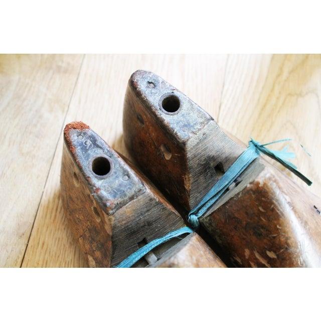 Vintage Mens Wooden Shoe Molds For Sale - Image 4 of 7